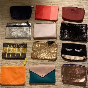 Handbags - 12 Makeup Bags Set